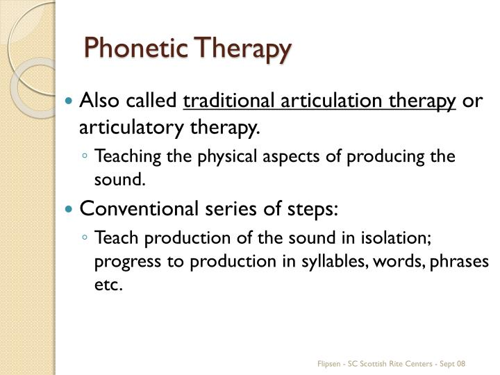Phonetic Therapy