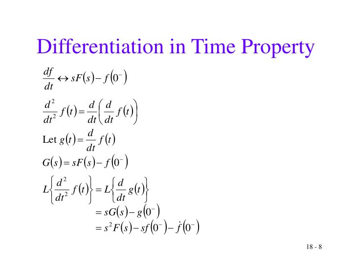 Differentiation in Time Property
