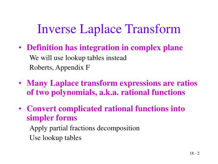 Inverse laplace transform1