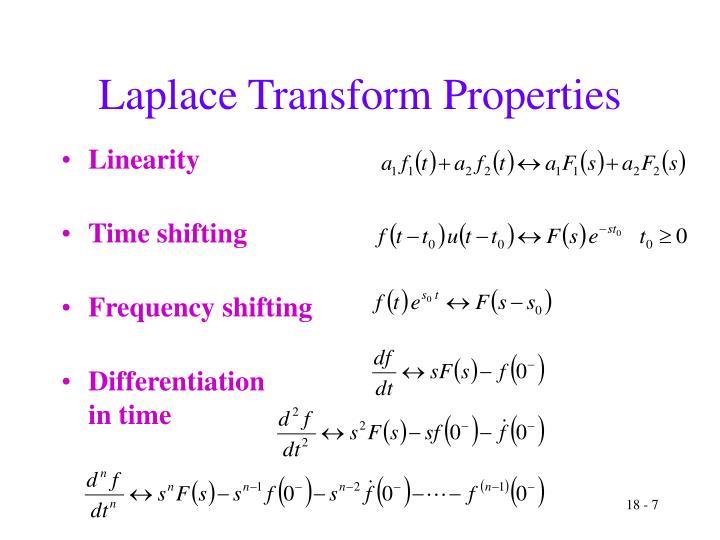 Laplace Transform Properties