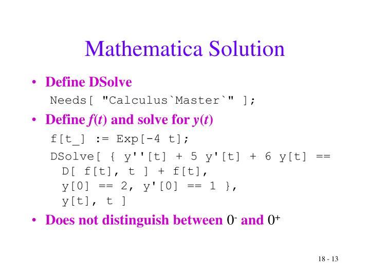 Mathematica Solution