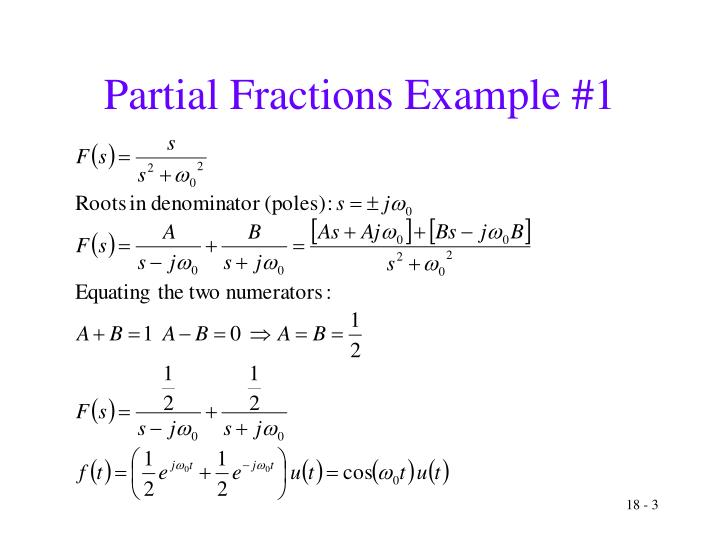 Partial fractions example 1