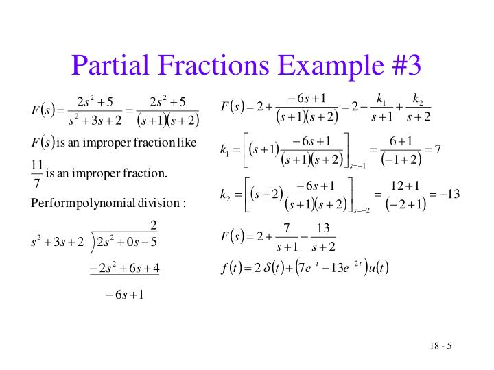 Partial Fractions Example #3