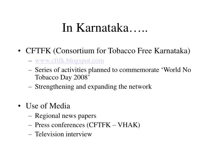 In Karnataka…..