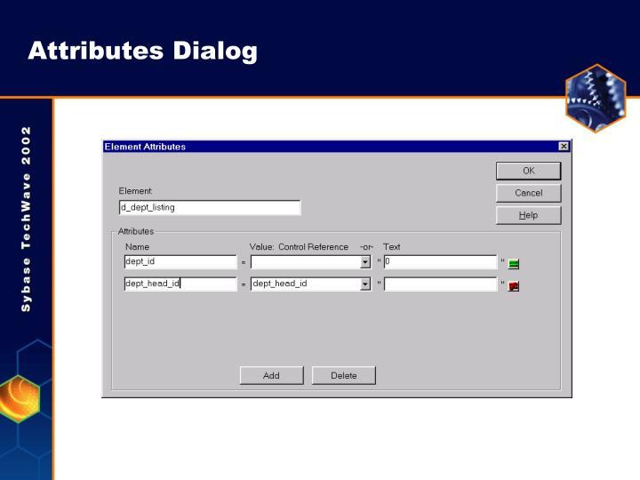 Attributes Dialog