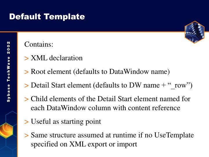 Default Template