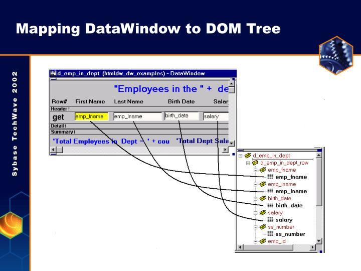 Mapping DataWindow to DOM Tree