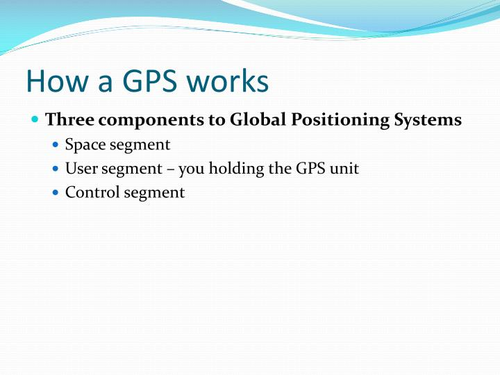 How a GPS works