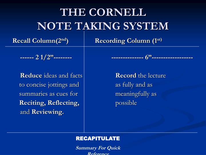 THE CORNELL