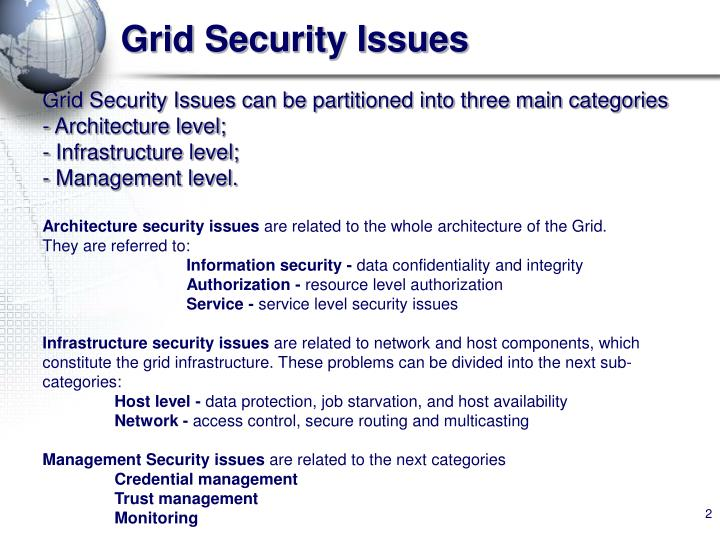 Grid security issues1