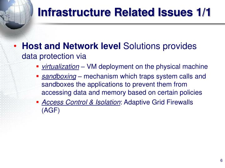 Infrastructure Related Issues