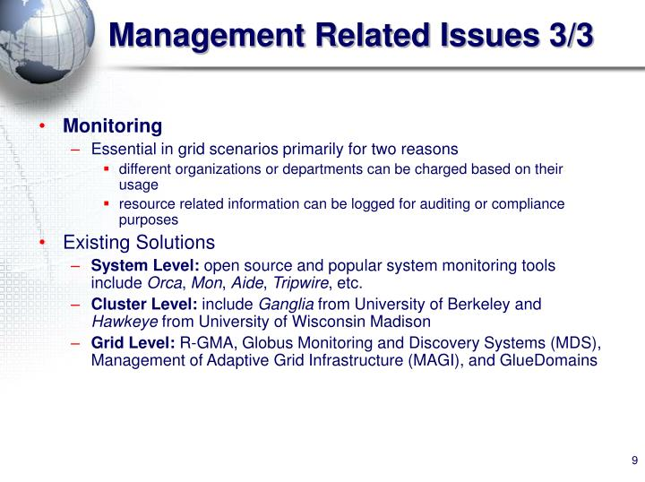 Management Related Issues