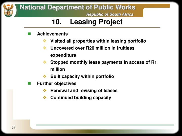 10.Leasing Project