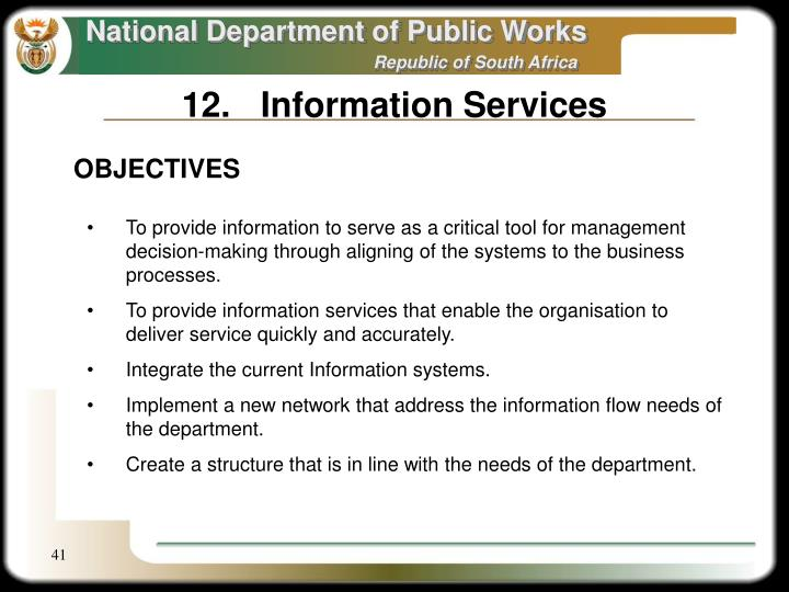 12.Information Services