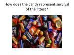 how does the candy represent survival of the fittest