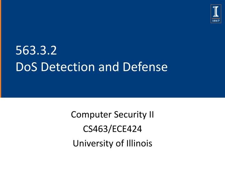 563 3 2 dos detection and defense n.