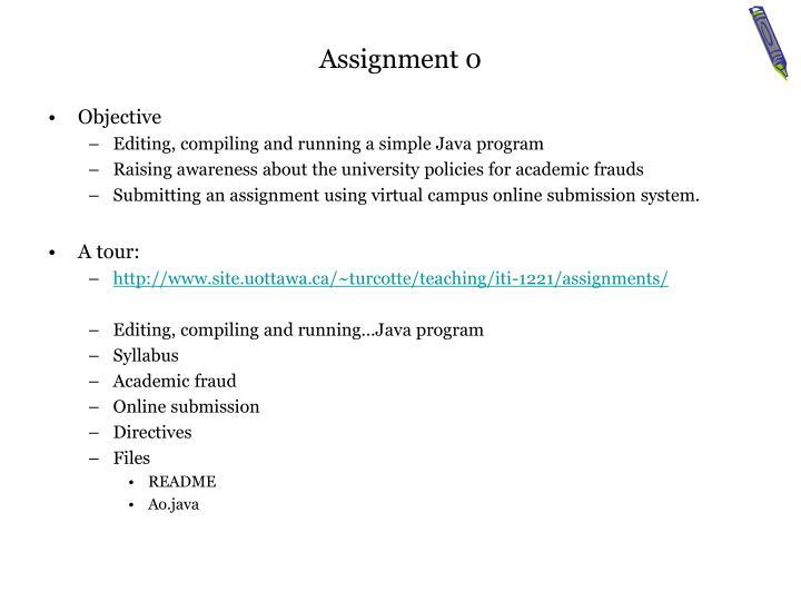 Assignment 0