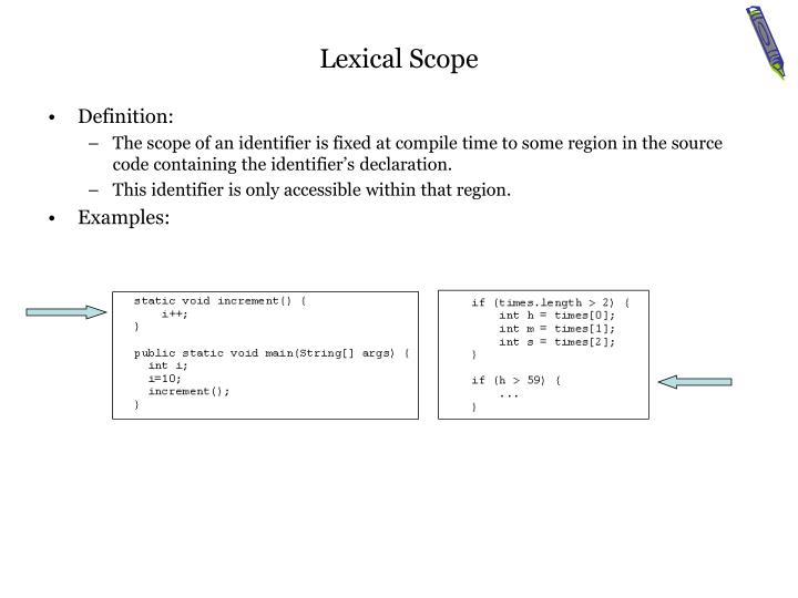 Lexical Scope