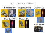 alkaline earth metals group 2 2a iia