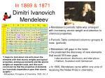 dimitri ivanovich mendeleev