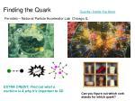 finding the quark