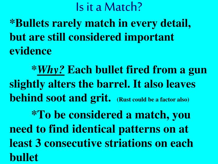 Is it a Match?