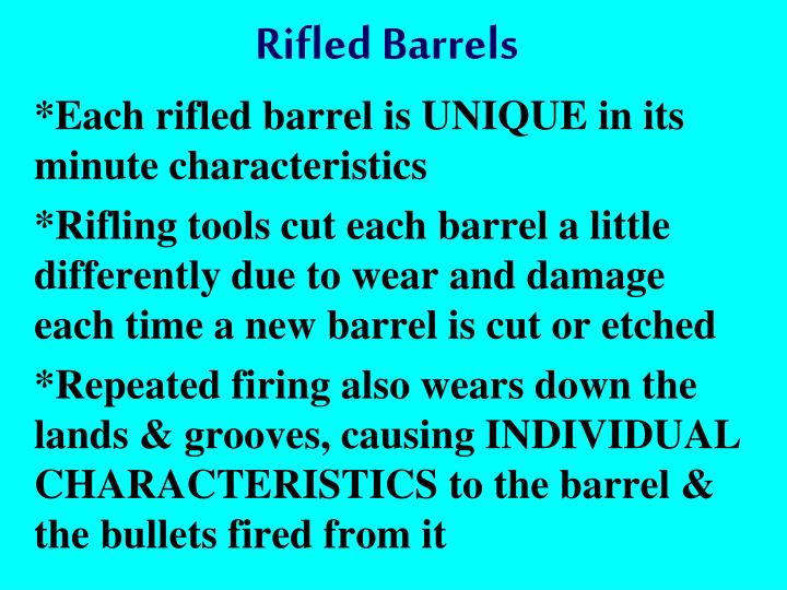 Rifled Barrels