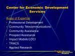 center for economic development services