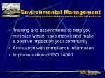 environmental management incorporating environmental management systems into production