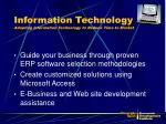 information technology adopting information technology to reduce time to market