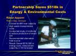partnership saves 518k in energy environmental costs