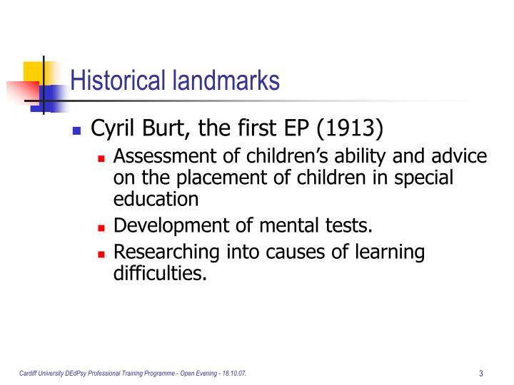 Historical landmarks