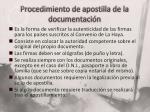 procedimiento de apostilla de la documentaci n