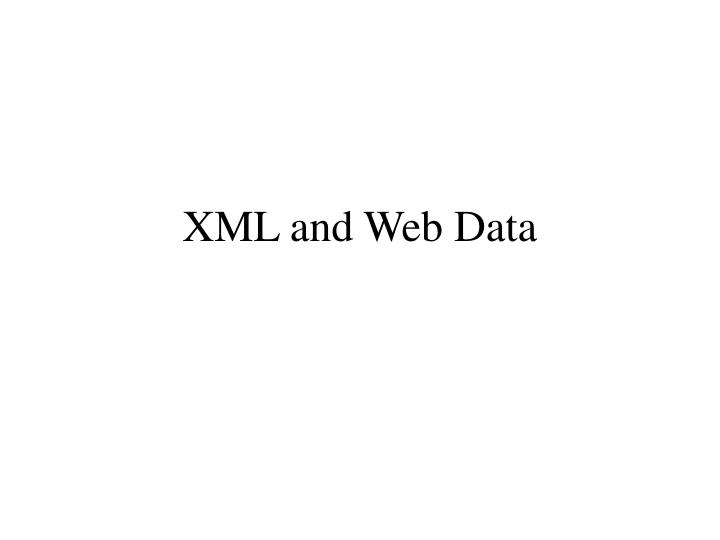 xml and web data n.