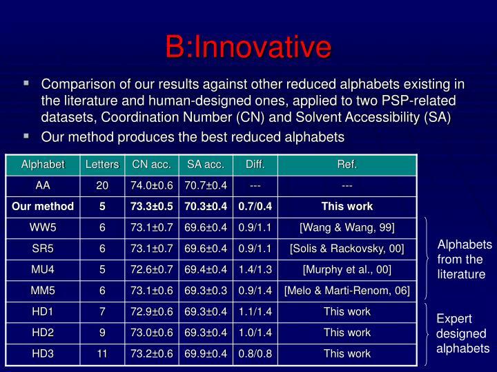 B:Innovative
