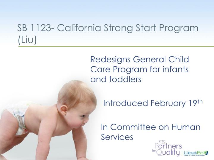 SB 1123- California Strong Start Program