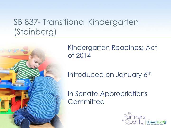 SB 837- Transitional Kindergarten
