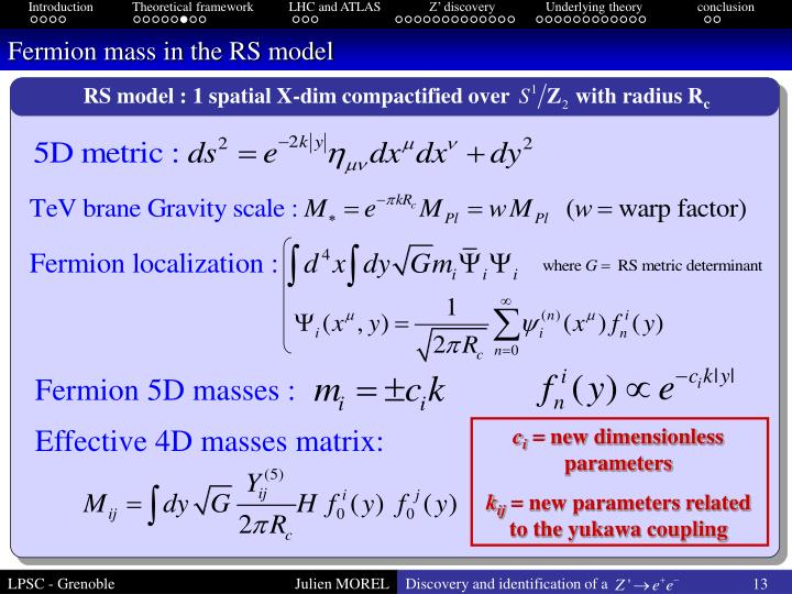 Fermion mass in the RS model