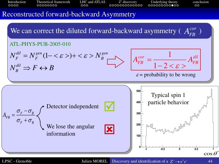 Reconstructed forward-backward Asymmetry