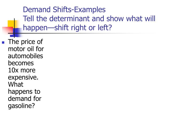 Demand Shifts-Examples