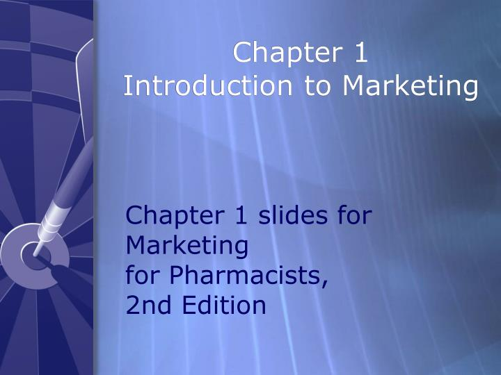 chapter 1 introduction to marketing n.