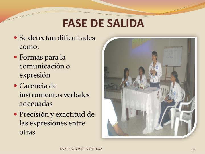 FASE DE SALIDA