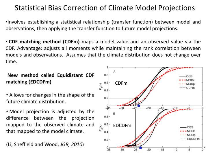 Statistical Bias Correction of Climate Model Projections