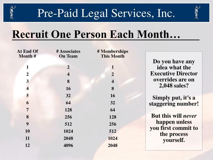Pre-Paid Legal Services, Inc.