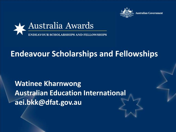 endeavour scholarships and fellowships n.