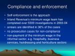 compliance and enforcement