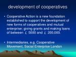 development of cooperatives1