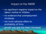 impact of the nmw