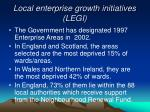 local enterprise growth initiatives legi1