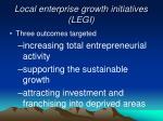 local enterprise growth initiatives legi3